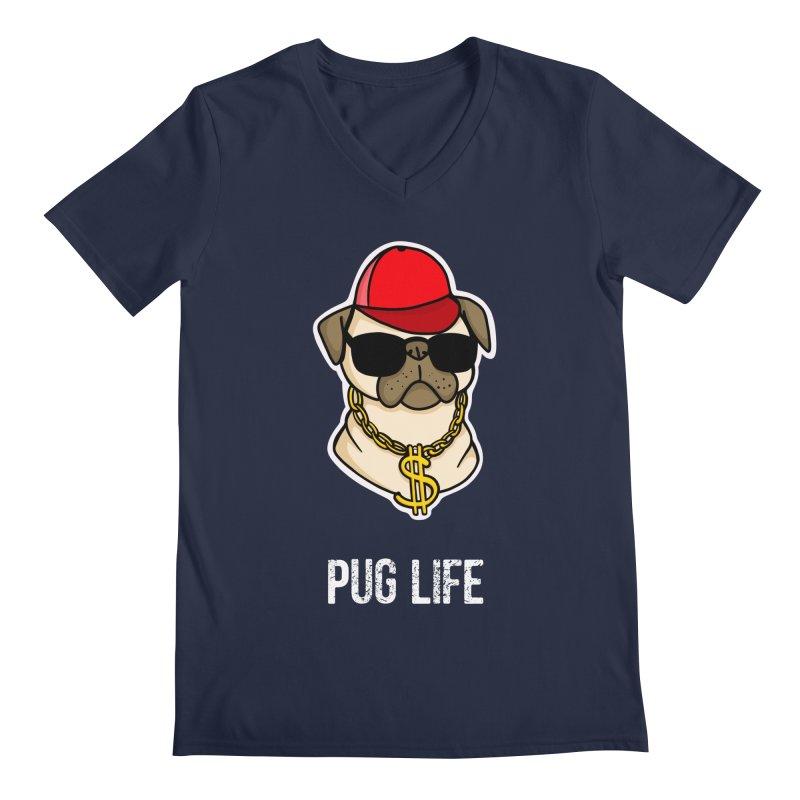 Pug Life Men's V-Neck by Piratart Illustration