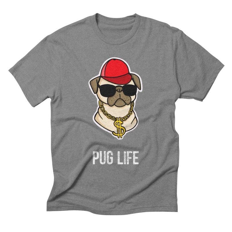Pug Life Men's Triblend T-shirt by Piratart Illustration