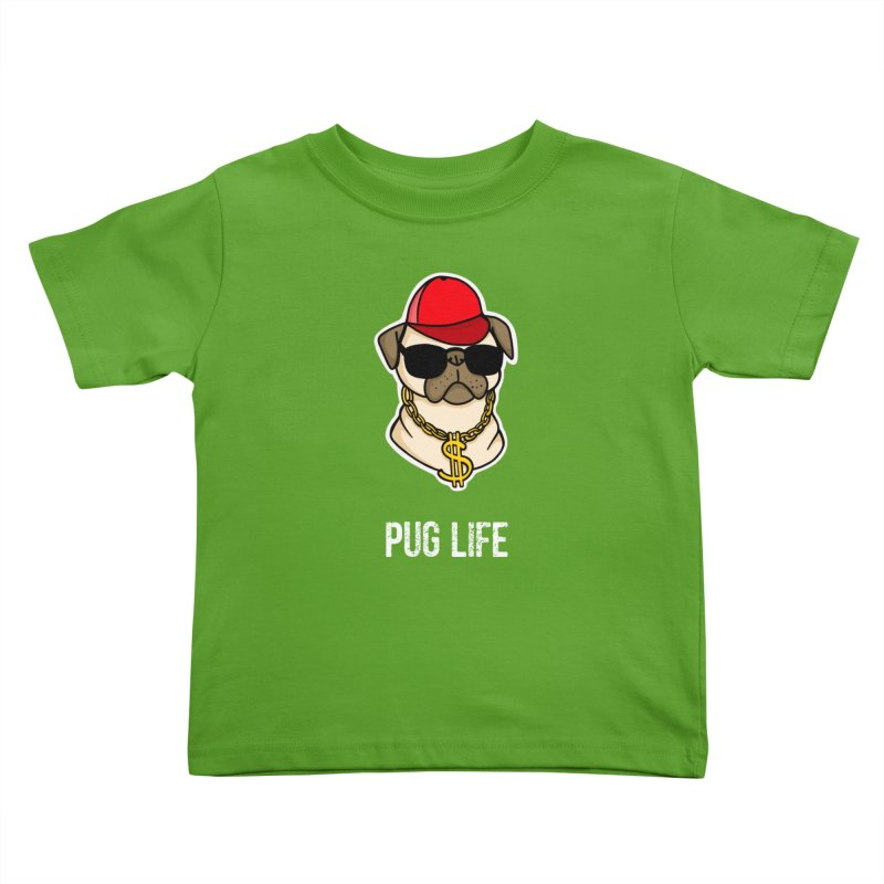 Pug Life Kids Toddler T-Shirt by Piratart Illustration