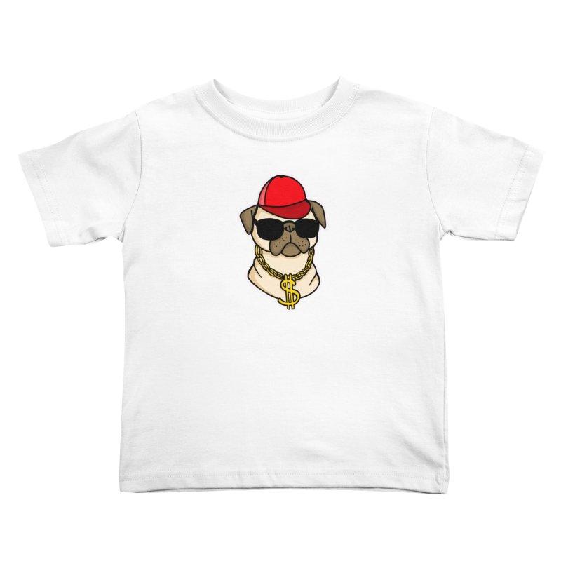 Pug Life Kids Toddler T-Shirt by Piratart Illustration