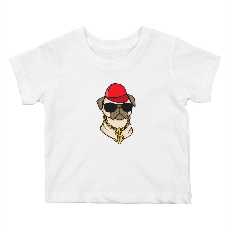 Pug Life Kids Baby T-Shirt by Piratart Illustration