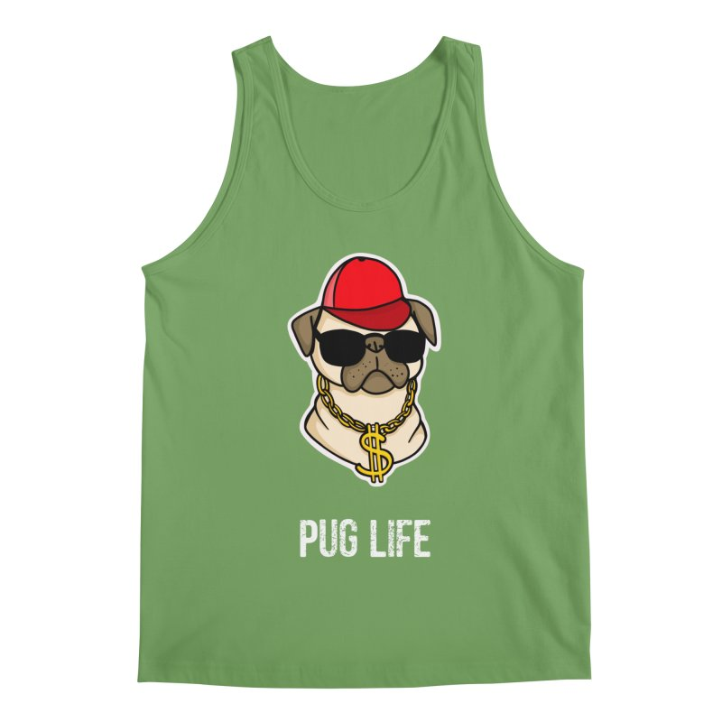 Pug Life Men's Tank by Piratart Illustration
