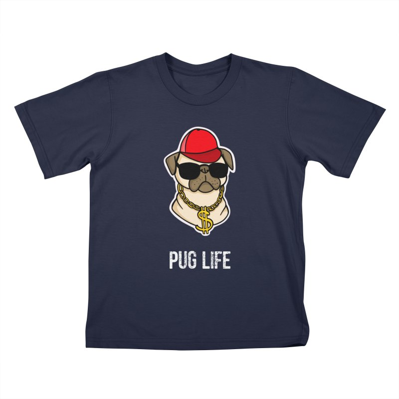 Pug Life Kids T-Shirt by Piratart Illustration