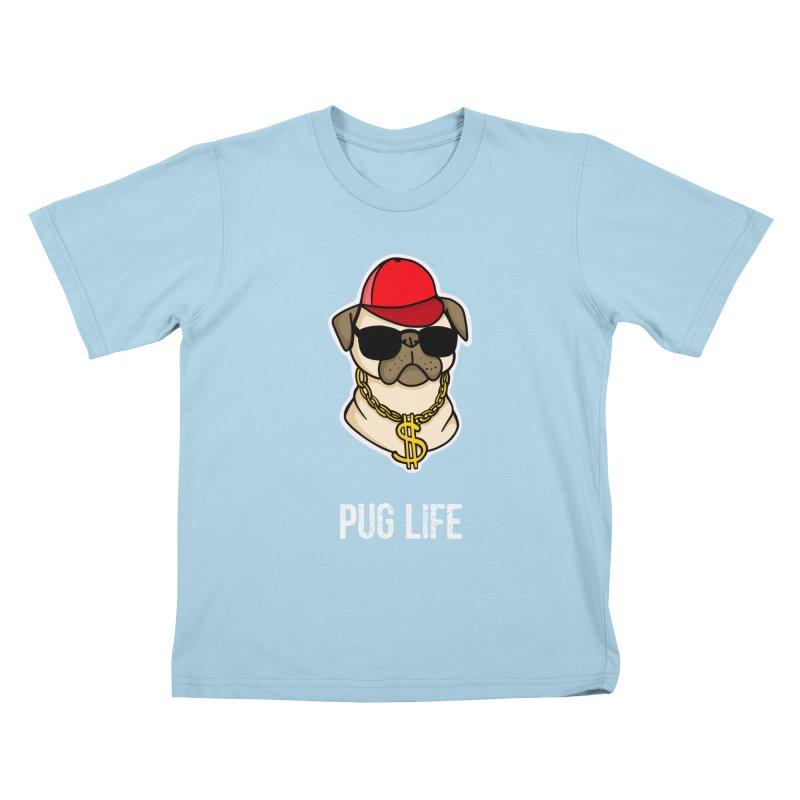 Pug Life Kids T-Shirt by Piratart Illustration