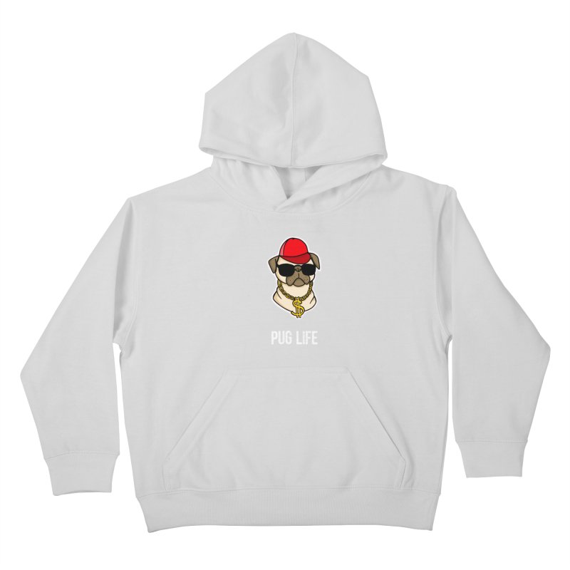 Pug Life Kids Pullover Hoody by Piratart Illustration