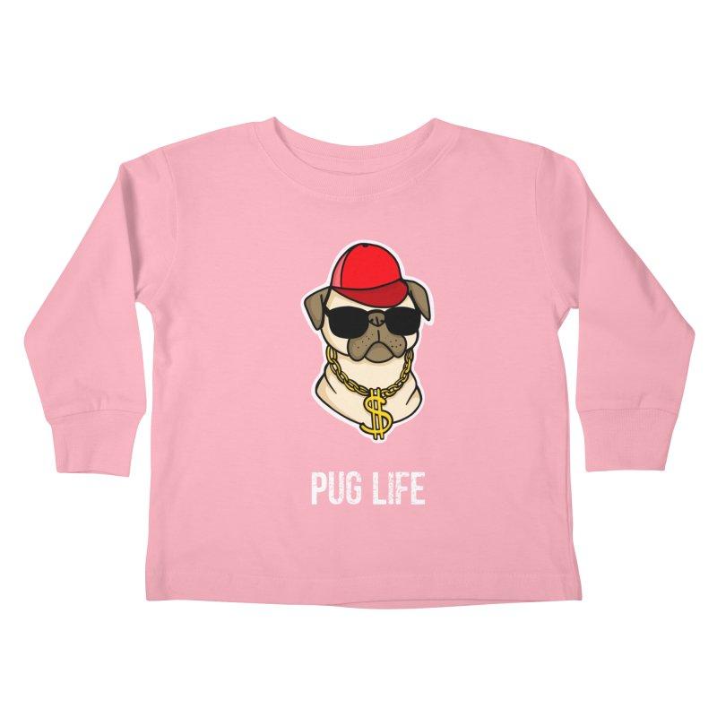 Pug Life Kids Toddler Longsleeve T-Shirt by Piratart Illustration