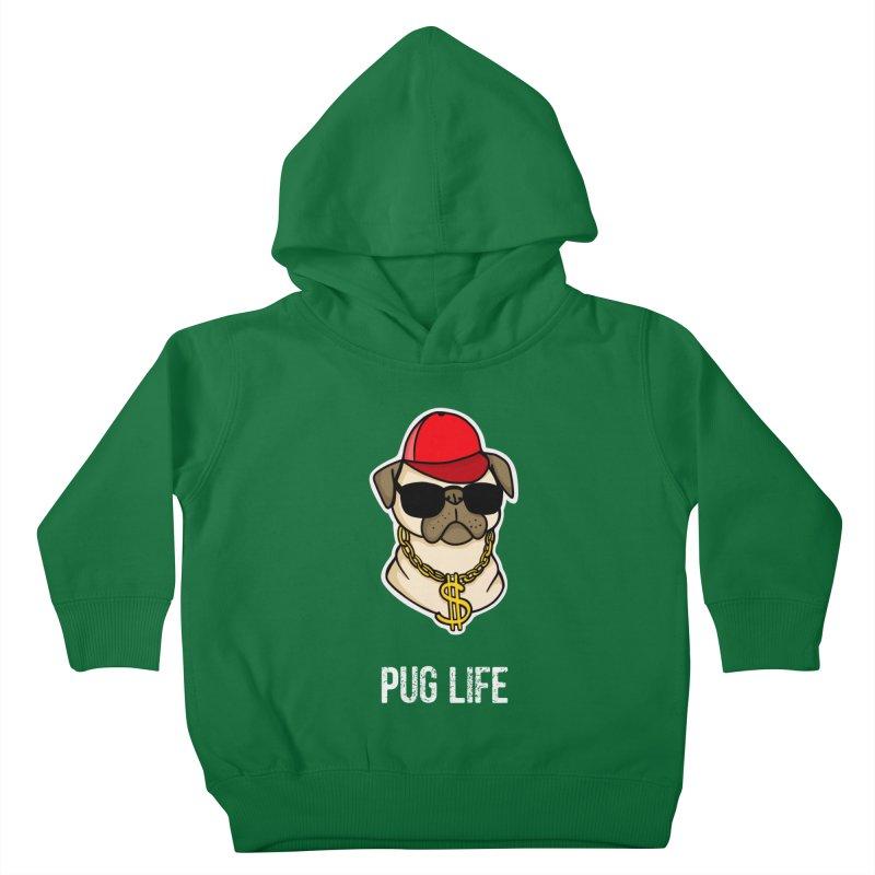 Pug Life Kids Toddler Pullover Hoody by Piratart Illustration