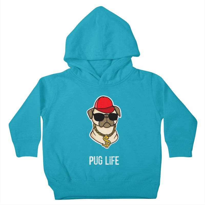 Pug Life Kids Toddler Pullover Hoody by Piratart Illustration