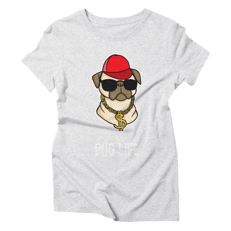 Pug Life Women's Triblend T-Shirt by Piratart Illustration