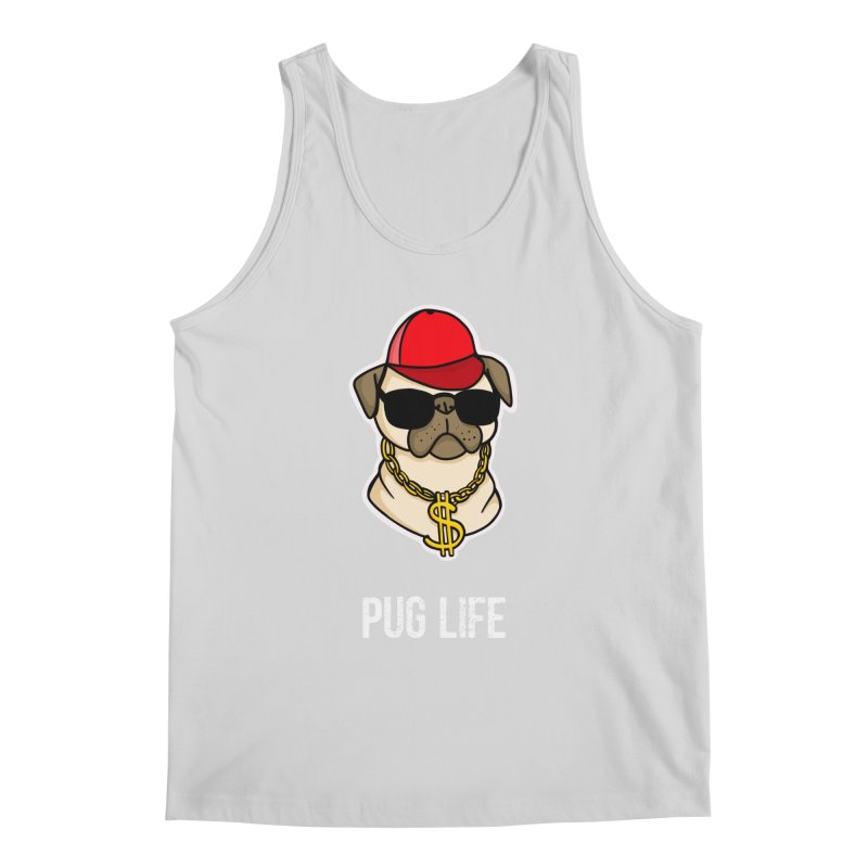 Pug Life Men's Regular Tank by Piratart Illustration