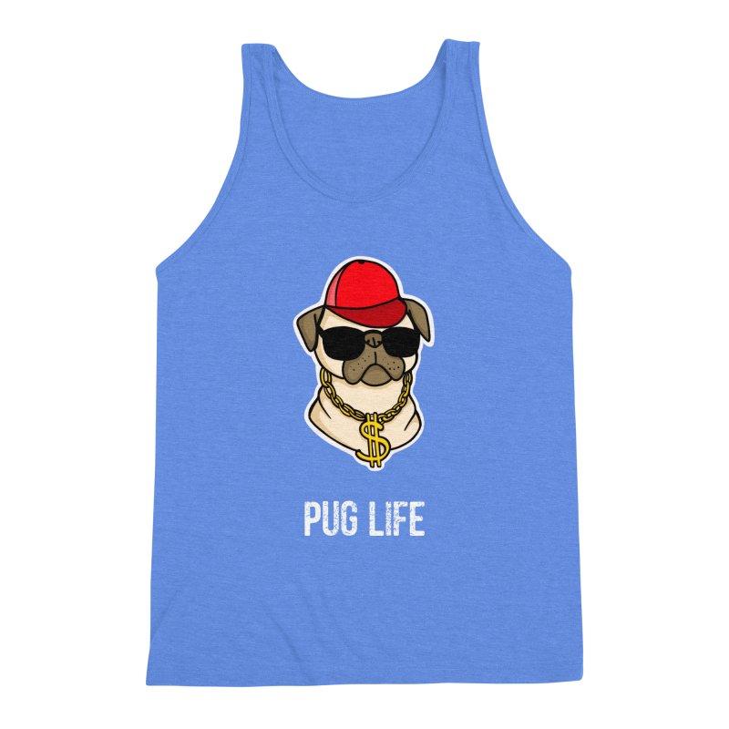 Pug Life Men's Triblend Tank by Piratart Illustration