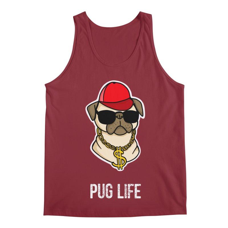 Pug Life Men's Regular Tank by Piratart Illustration