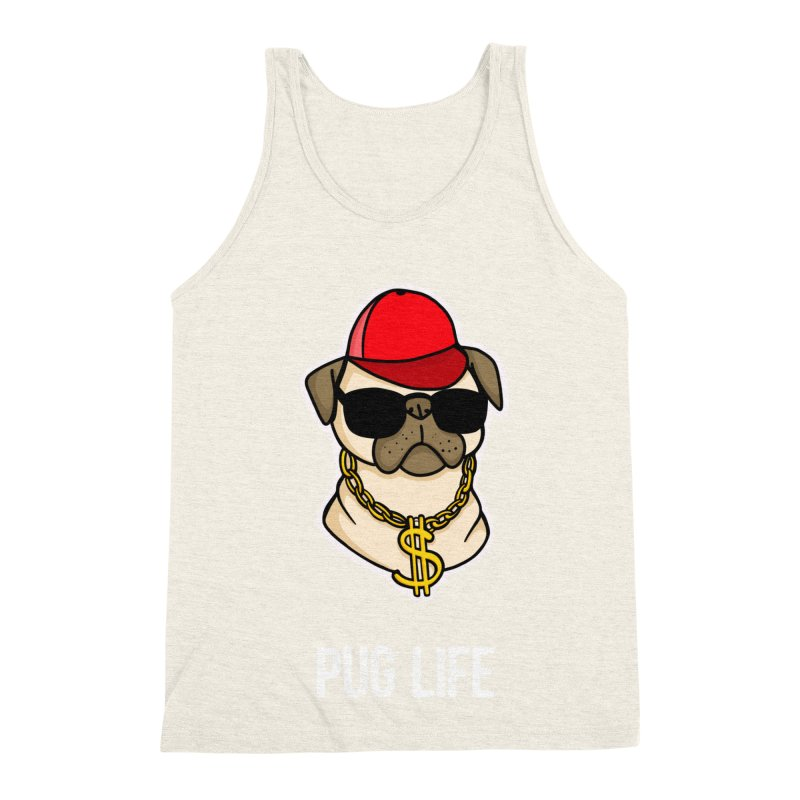 Pug Life Men's Triblend Tank by Piratart Illustration