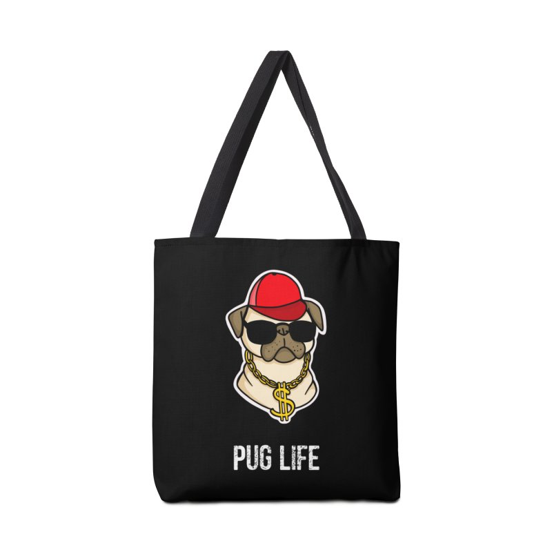 Pug Life Accessories Bag by Piratart Illustration