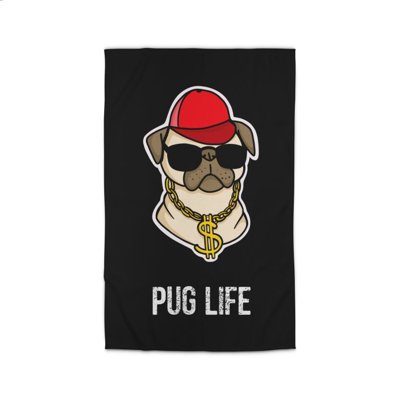 Pug Life Home Rug by Piratart Illustration