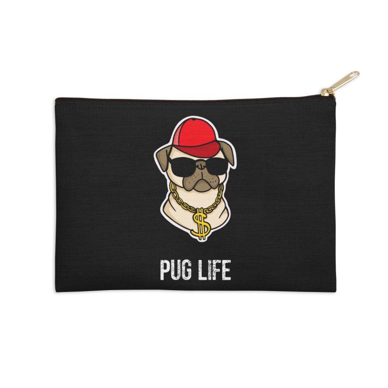 Pug Life Accessories Zip Pouch by Piratart Illustration