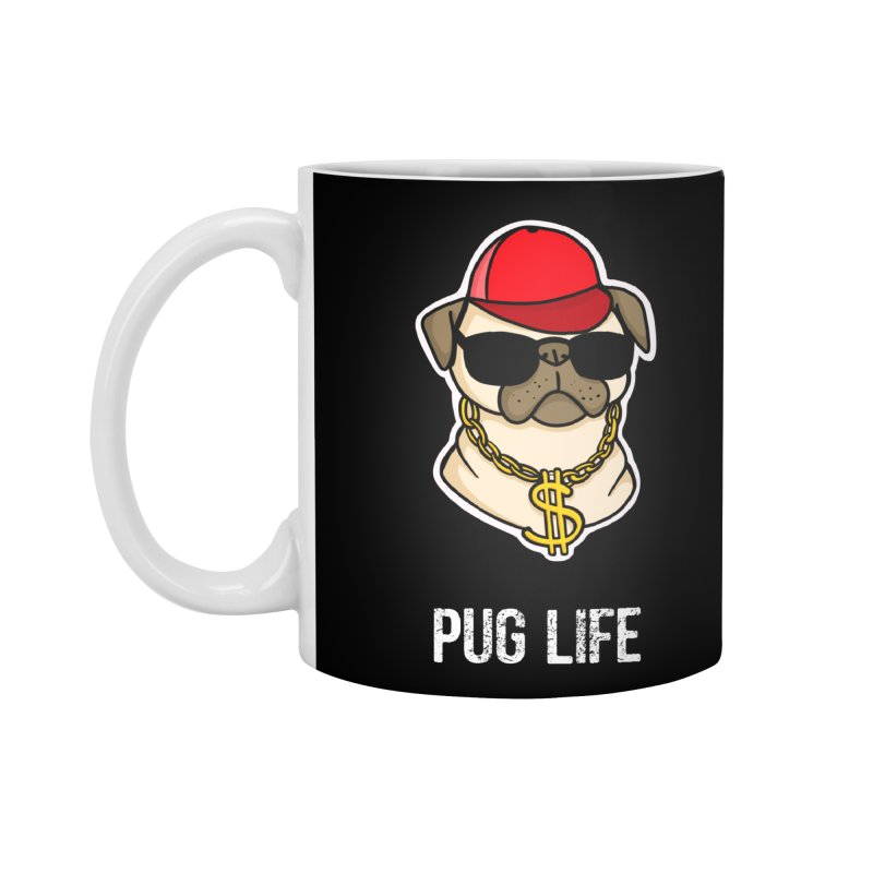 Pug Life Accessories Standard Mug by Piratart Illustration