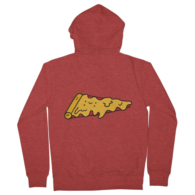 Pizza Women's French Terry Zip-Up Hoody by Piratart Illustration
