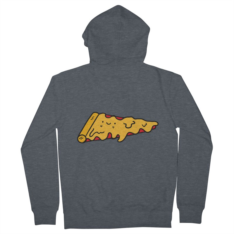 Pizza Men's Zip-Up Hoody by Piratart Illustration