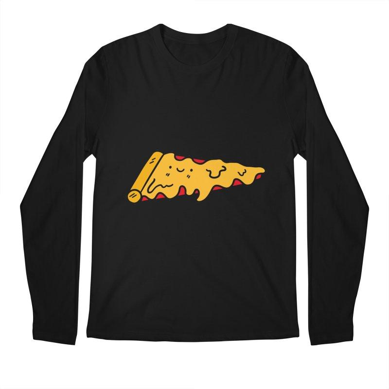 Pizza Men's Regular Longsleeve T-Shirt by Piratart Illustration