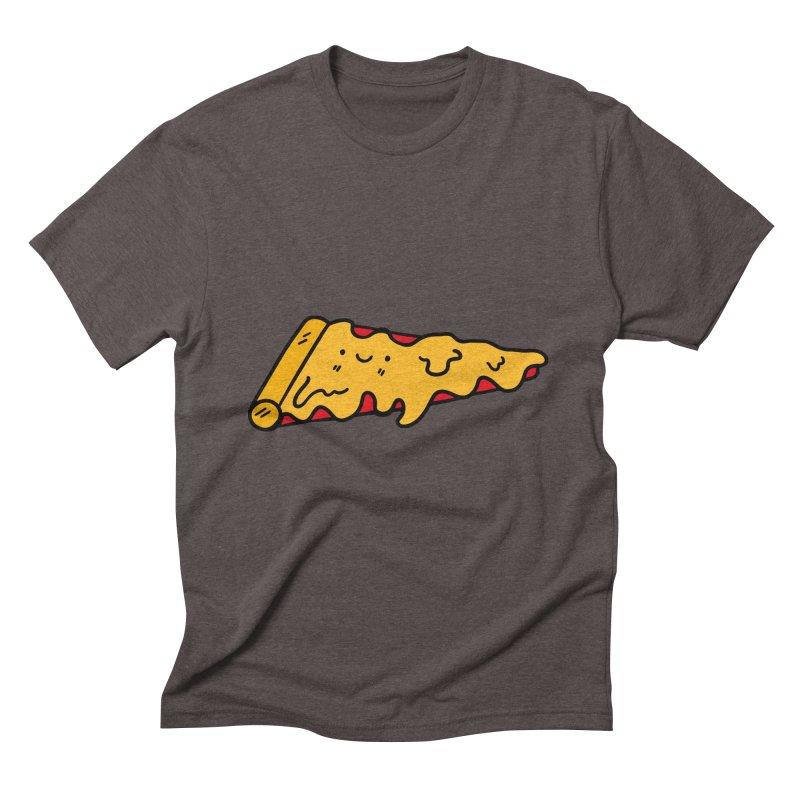 Pizza Men's Triblend T-shirt by Piratart Illustration