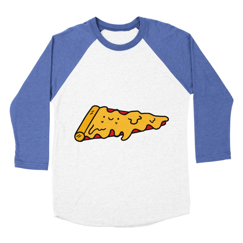 Pizza Women's Baseball Triblend Longsleeve T-Shirt by Piratart Illustration
