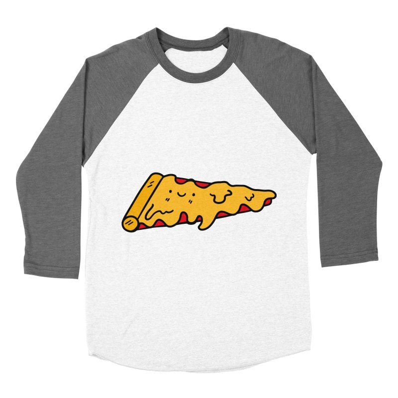 Pizza Women's Baseball Triblend T-Shirt by Piratart Illustration