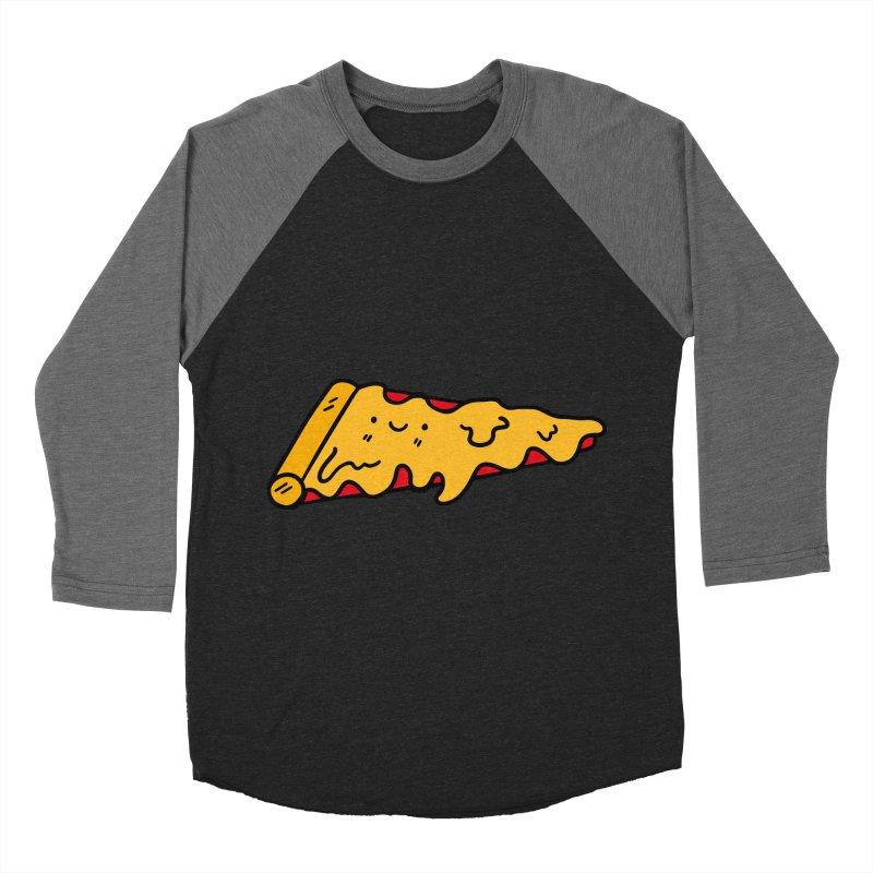 Pizza Men's Baseball Triblend Longsleeve T-Shirt by Piratart Illustration