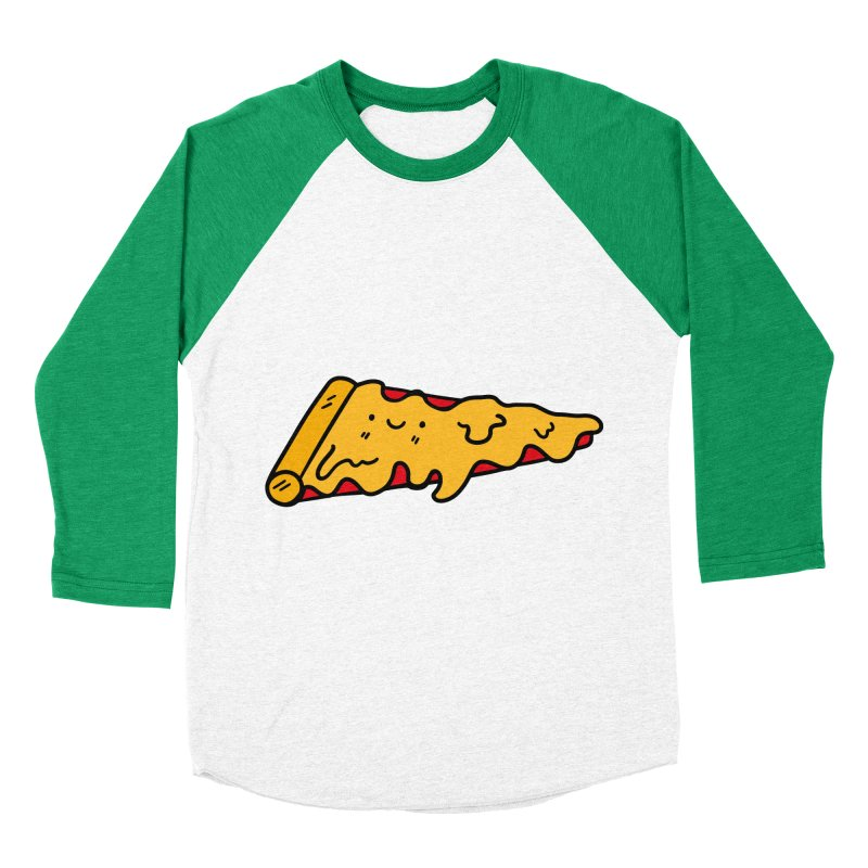 Pizza Men's Baseball Triblend T-Shirt by Piratart Illustration