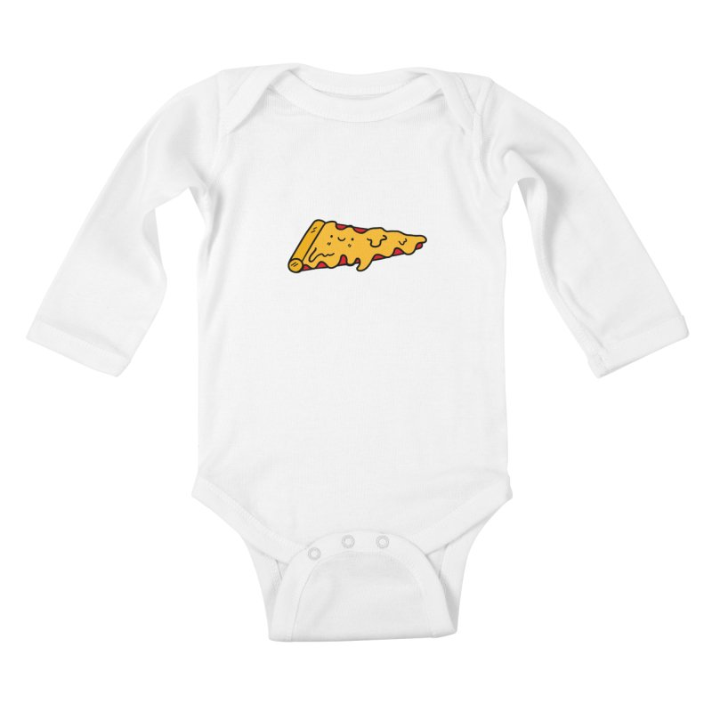 Pizza Kids Baby Longsleeve Bodysuit by Piratart Illustration