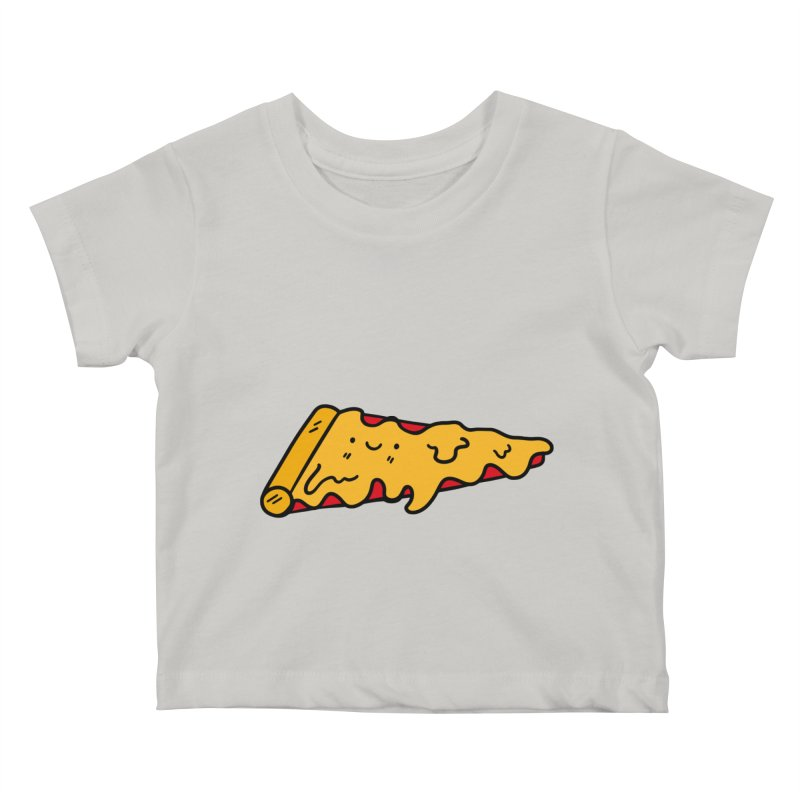 Pizza Kids Baby T-Shirt by Piratart Illustration
