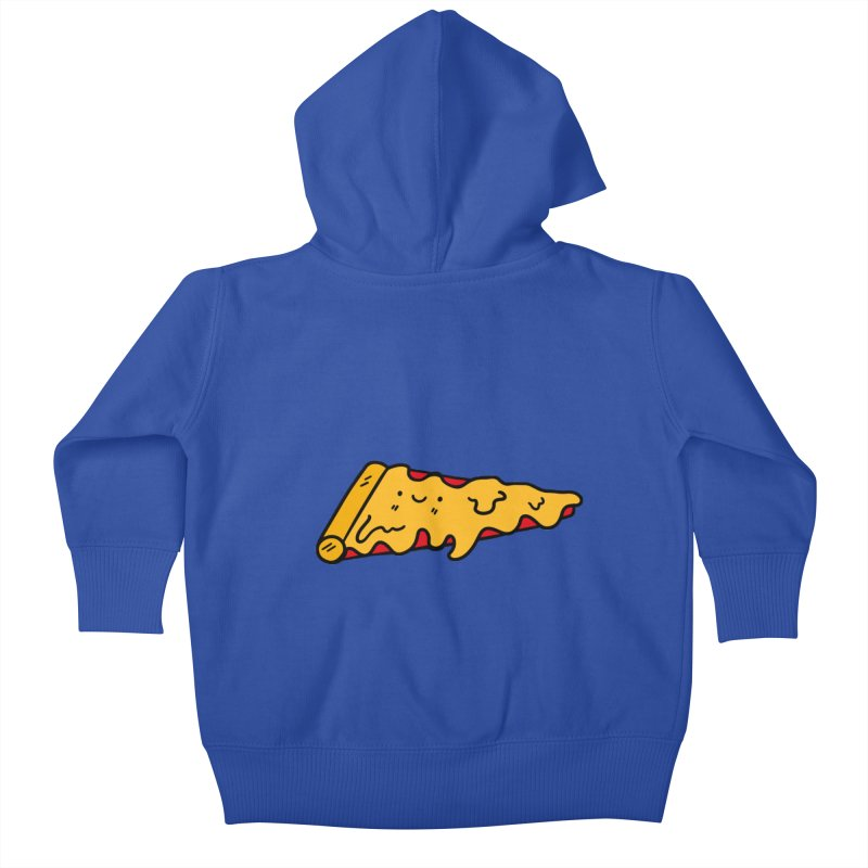 Pizza Kids Baby Zip-Up Hoody by Piratart Illustration