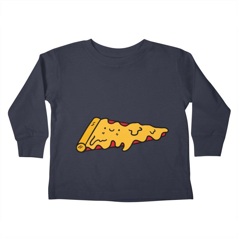 Pizza Kids Toddler Longsleeve T-Shirt by Piratart Illustration