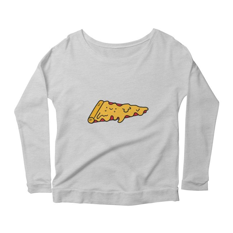 Pizza Women's Scoop Neck Longsleeve T-Shirt by Piratart Illustration