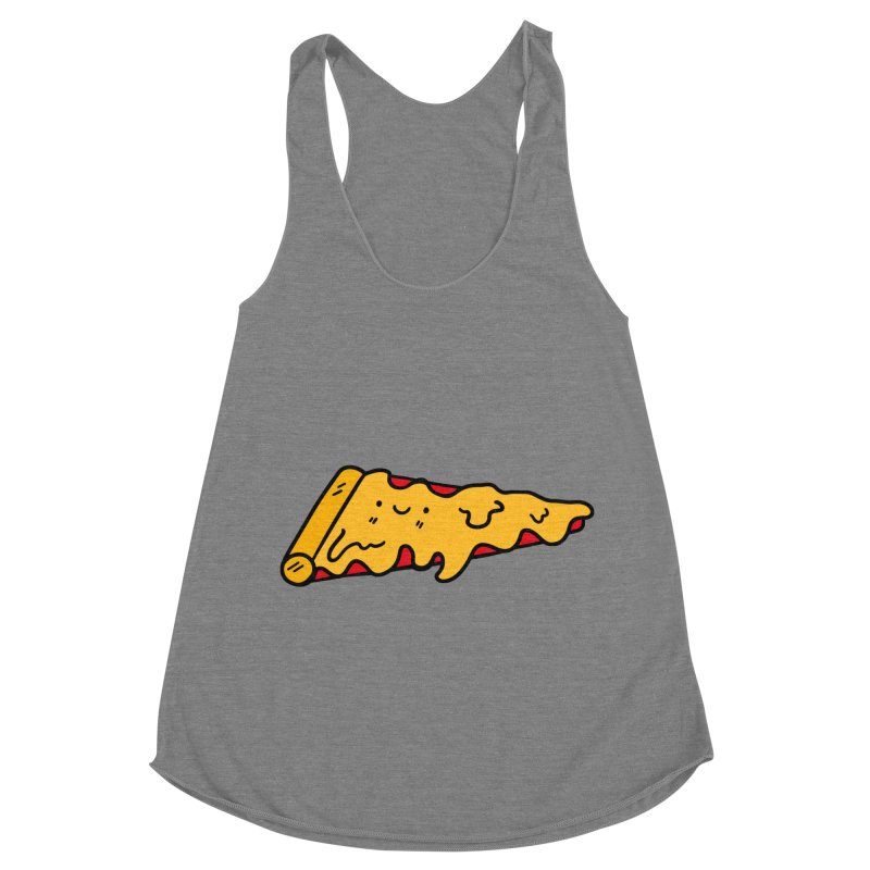 Pizza Women's Racerback Triblend Tank by Piratart Illustration
