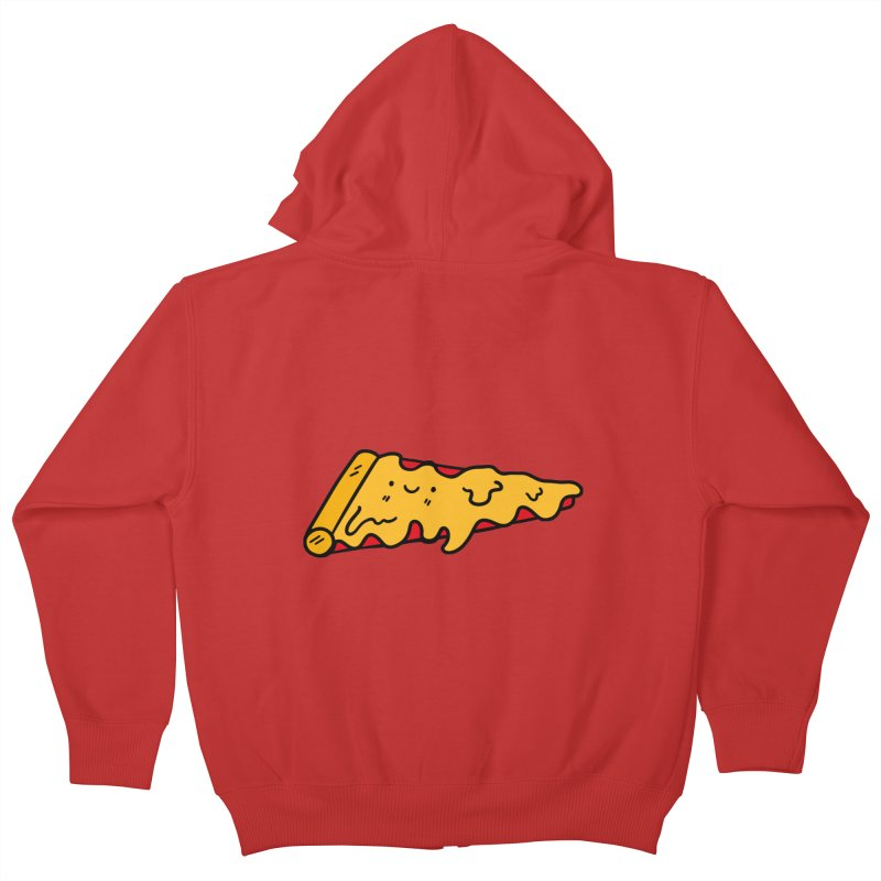 Pizza Kids Zip-Up Hoody by Piratart Illustration