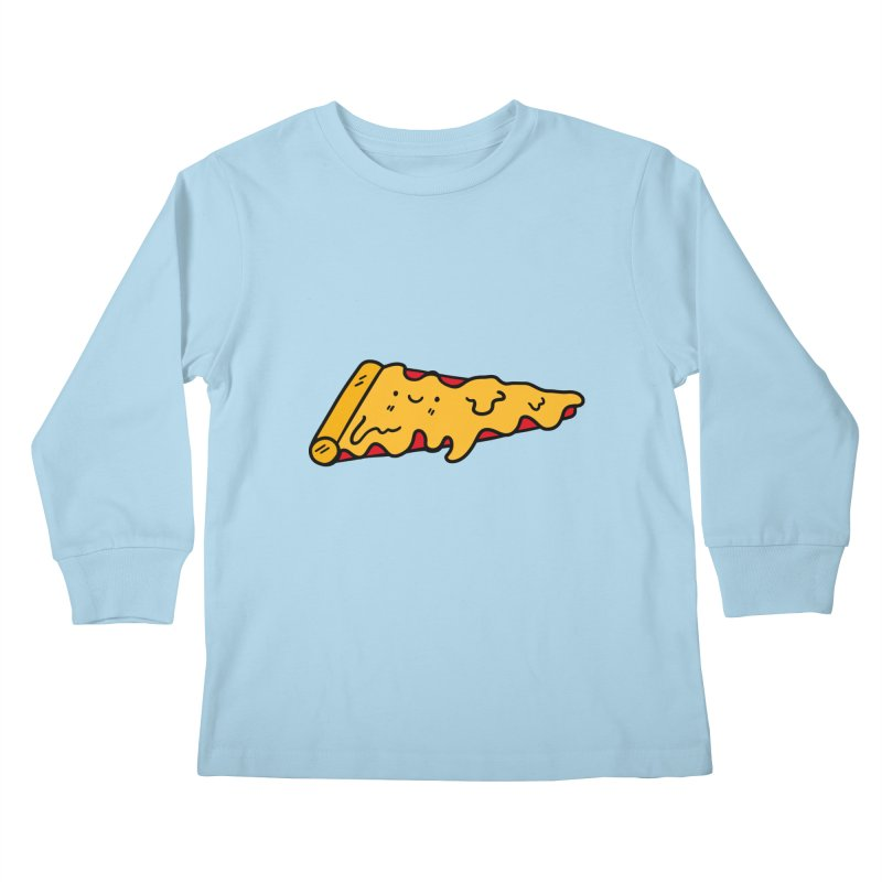 Pizza Kids Longsleeve T-Shirt by Piratart Illustration