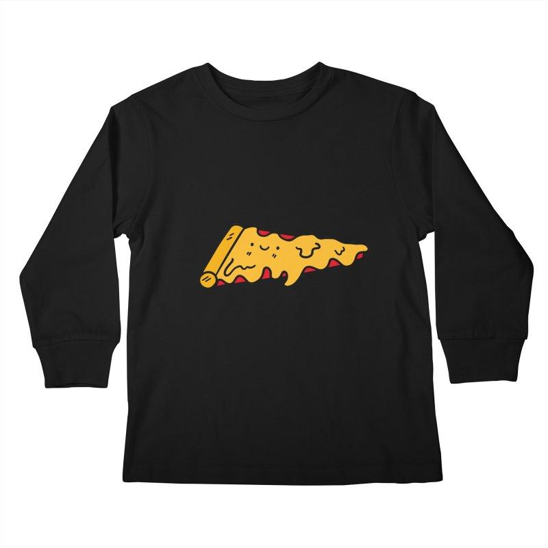 Pizza Kids Longsleeve T-Shirt by Piratart Illustration