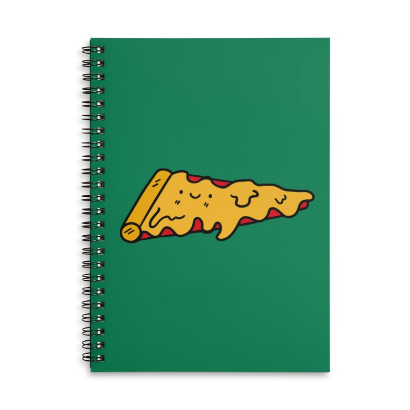 Pizza Accessories Lined Spiral Notebook by Piratart Illustration