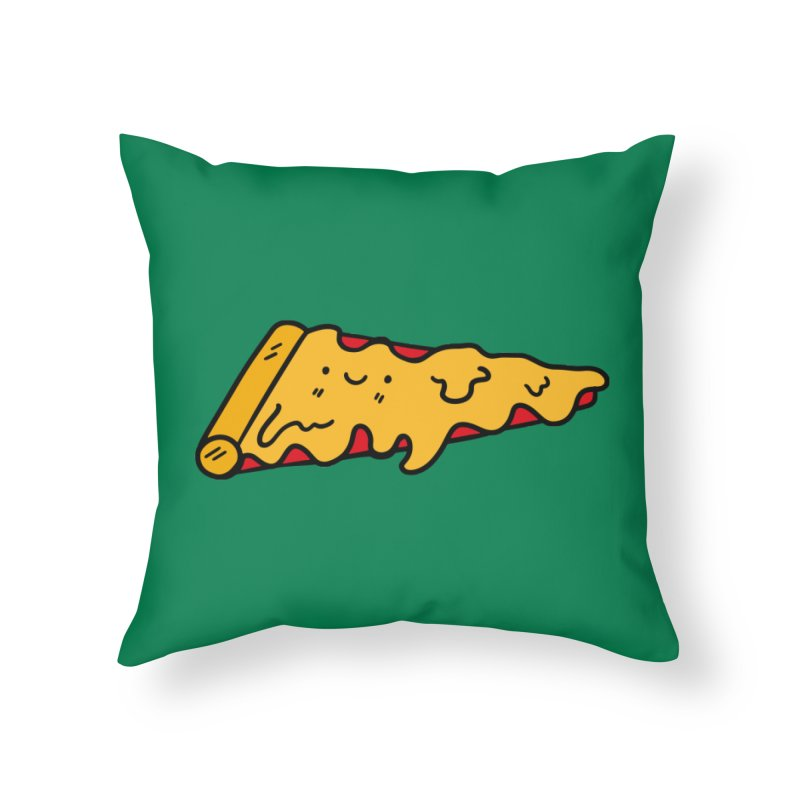 Pizza Home Throw Pillow by Piratart Illustration