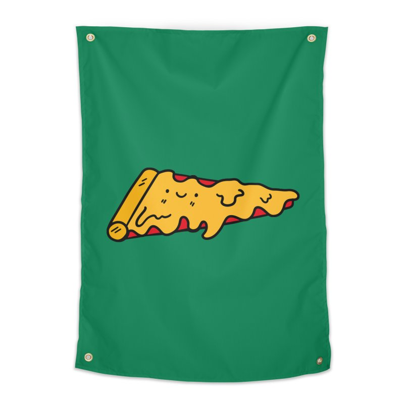 Pizza Home Tapestry by Piratart Illustration