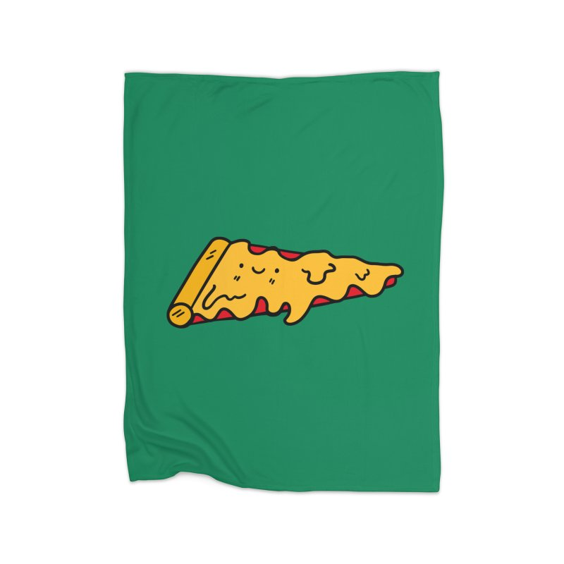 Pizza Home Fleece Blanket Blanket by Piratart Illustration