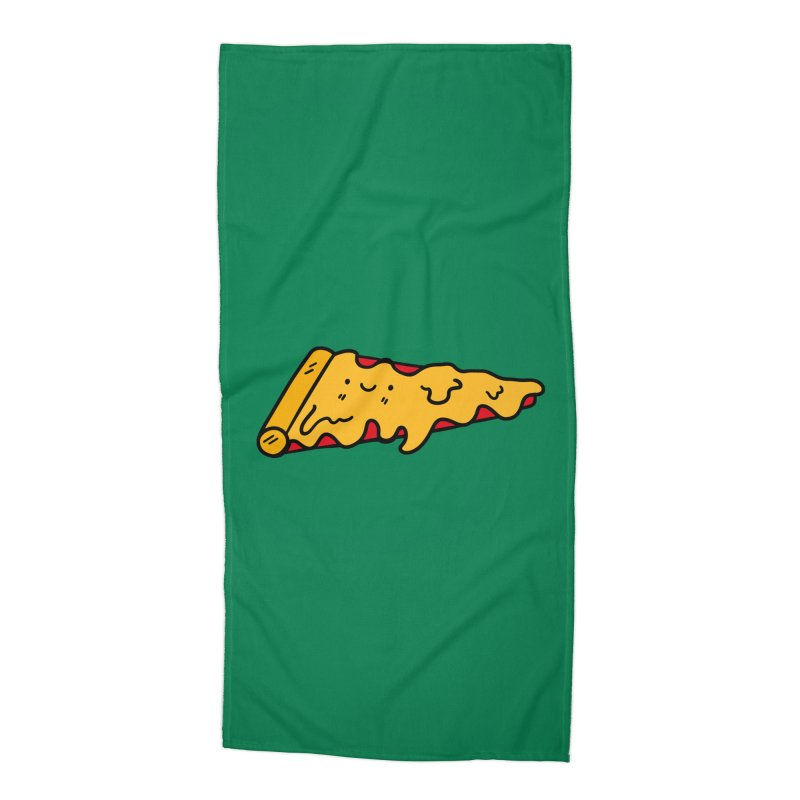 Pizza Accessories Beach Towel by Piratart Illustration