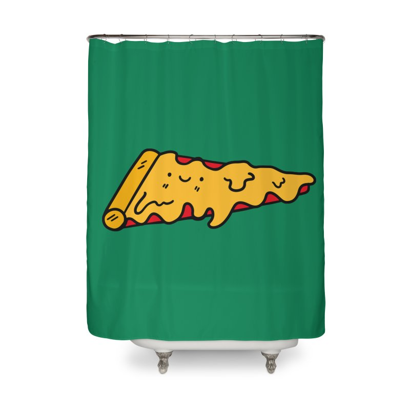 Pizza Home Shower Curtain by Piratart Illustration