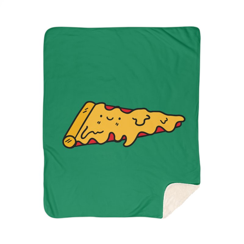 Pizza Home Sherpa Blanket Blanket by Piratart Illustration