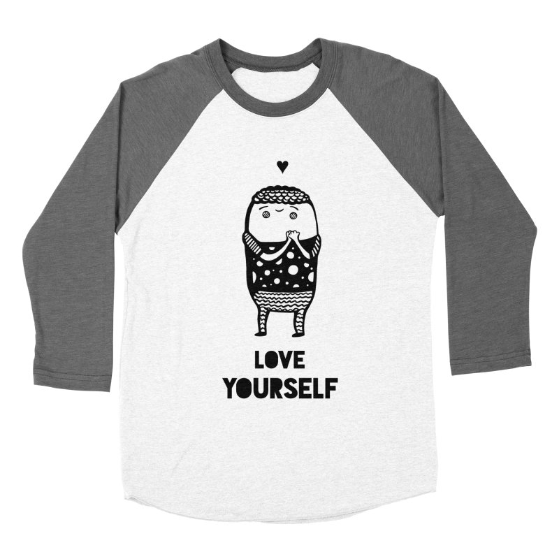 Love Yourself Women's Longsleeve T-Shirt by Piratart Illustration