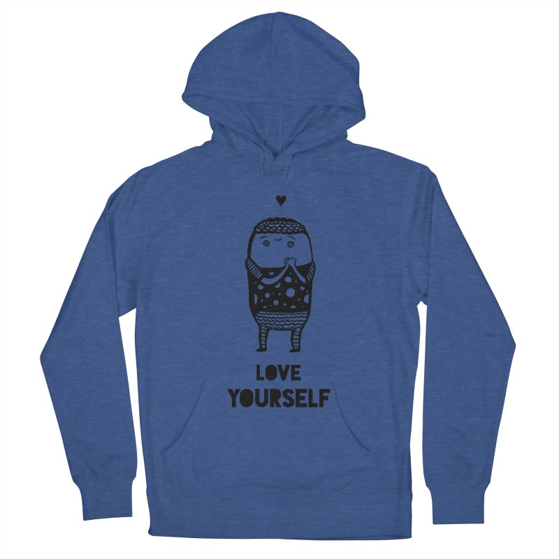Love Yourself Men's French Terry Pullover Hoody by Piratart Illustration