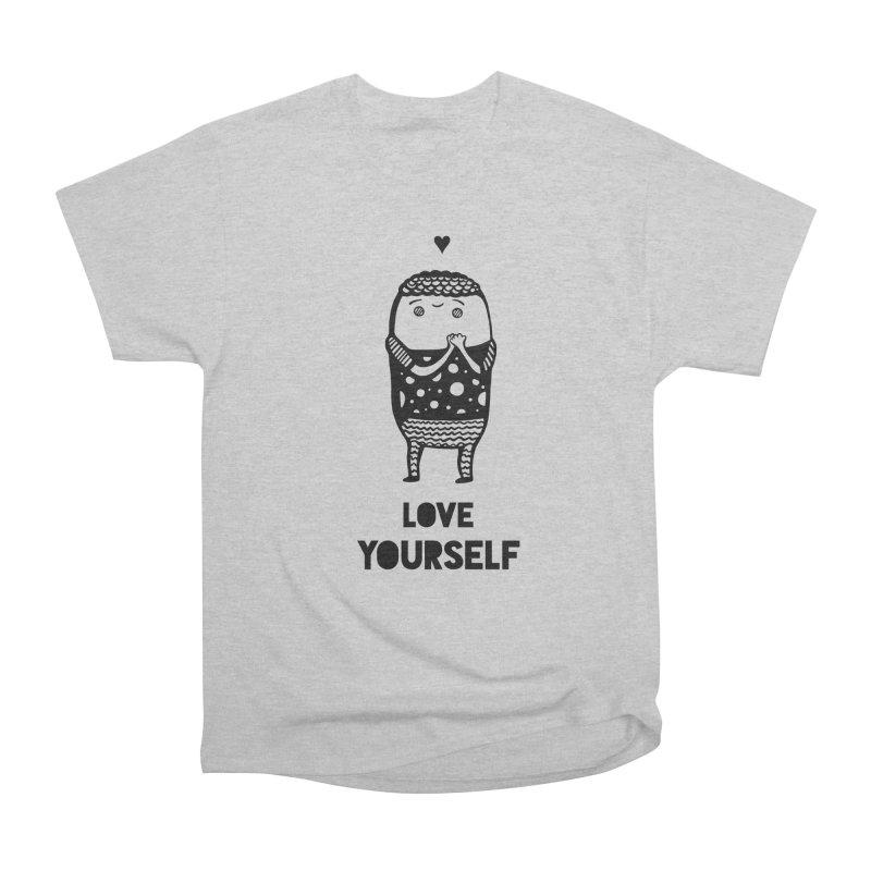 Love Yourself Women's Heavyweight Unisex T-Shirt by Piratart Illustration
