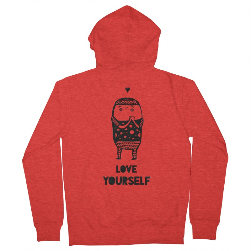 Love Yourself Men's Zip-Up Hoody by Piratart Illustration