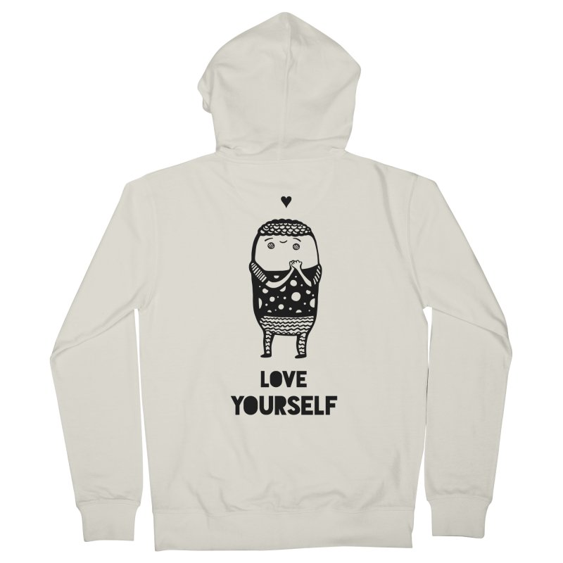 Love Yourself Men's Zip-Up Hoody by Piratart Illustration
